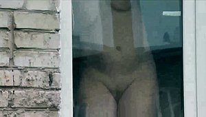 In nature's garb Step mama washes window son spies on mommy. nude in public. Spying XXX Movies